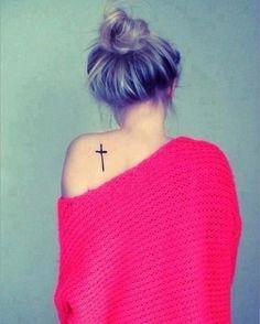 unique Women Tattoo - Cross... #tattoosforwomenonshoulder
