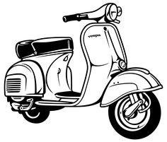 Discover recipes, home ideas, style inspiration and other ideas to try. Piaggio Vespa, Moto Vespa, Vespa Scooters, Vespa Logo, Vespa Bike, Vespa Lambretta, Vespa Vintage, Vespa Vector, Vespa Illustration