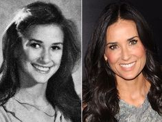 Demi MooreShortly after this photo was taken, Demi Moore, who is pictured in her 1978 sophomore year portrait from Fairfax High School in Los Angeles, dropped out of school at age 16 to become an actress.