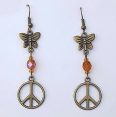 Check out this item in my Etsy shop https://www.etsy.com/listing/268170246/boho-chic-earrings-peace-sign-earrings