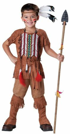 Amazon.com: In Character Kids Indian Brave Warrior Boys Native American Halloween Costume XL: Toys & Games