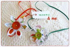 Stars on white Mother Daughter matching headband set by ImwtheBand, €14.50