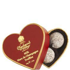 Mini Marc De Champagne Truffles Heart Box