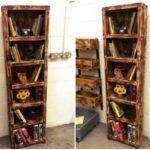 Reclaimed Wooden Pallet Bookshelf