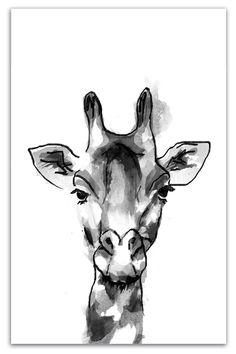 Here is one of my latest wall art designs now available in my Etsy shop. Link in bio. This black and white watercolour effect art print can compliment all different types or decor. I'm loving animals at the moment! And who doesn't love a giraffe right? Giraffe Drawing, Giraffe Painting, Giraffe Art, Giraffes, Black And White Interior, White Interior Design, Black And White Wall Art, Safari Animals, Wall Art Designs