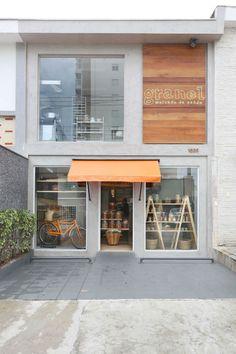 Cafe Shop Design, Cafe Interior Design, Shop Front Design, Interior Architecture, Boutique Interior, Home Design, Shop Facade, Cafe Concept, Pharmacy Design