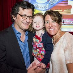 Ben Mankiewicz with his wife & daughter at the 2015 TCM Classic Film Festival.