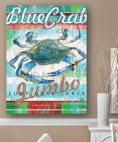 This Blue Crab Cakes Wall Art is perfect! #zulilyfinds