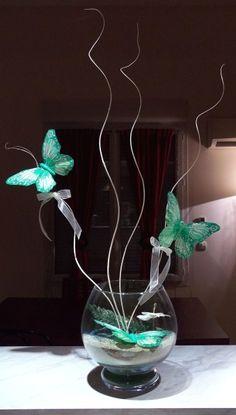 Centre de table thème papillon - O rêves O des espoirs