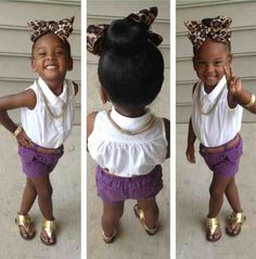i love kids in not so kiddy clothes! her high bun and accessorizing are so cute. weeerk lil mama.... (and her mama for dressing her lol)