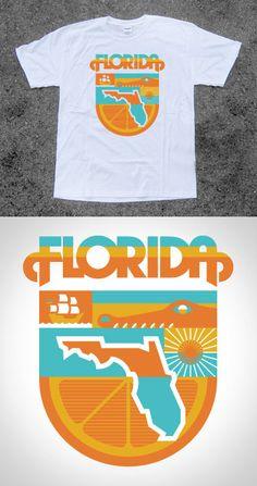 Florida T-shirt by Draplin Design