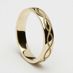 Cassidy Spiral Wedding Ring (C-362) - Celtic Wedding Rings