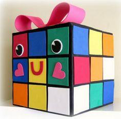 Rubiks Cube Valentine Box