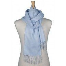 Lichtblauwe kasjmier sjaal - Effen kasjmier sjaals - Nieuw! Kasjmier sjaals! - Authentieke Italiaanse dassen