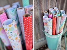 New Wrap It Up and Pass The Tissue paper rolls from Hazel & Ruby. LOVE these! Beautiful colors & designs. Releasing at CHA2014.