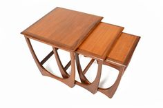 Mid century modern G Plan Astro teak nesting tables designed by Victor Wilkins. Danish Modern Furniture, Mcm Furniture, Coaster Furniture, Furniture Styles, Table Furniture, Furniture Design, 1950s Design, Nesting Tables, Scandinavian Modern