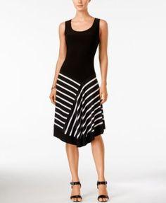MSK Asymmetrical Printed A-Line Dress | macys.com