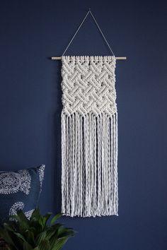 Macrame wall hanging / basket weave / woven wall hanging /