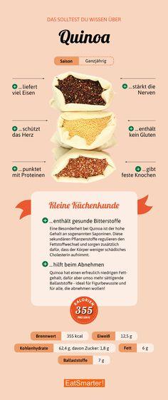 Das solltest du über Quinoa wissen | eatsmarter.de #quinoa #infografik #ernährung #glutenfrei