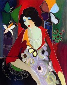 Tarkay is one of my favorite artists. This painting hangs in my living room.