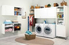 Storage cabinet design ideas for small laundry room