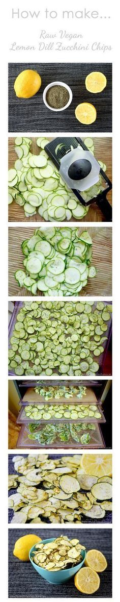 Lemon Dill Zucchini Chips..made in the dehydrator so they're raw, vegan, gluten-free, dairy-free, paleo and you can also bake them in the oven too! | The Healthy Family and Home