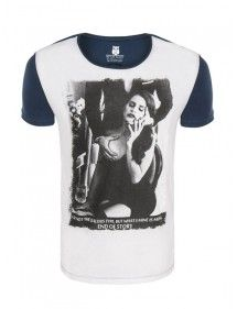 MedaIgual camiseta Lana del rey | white navy