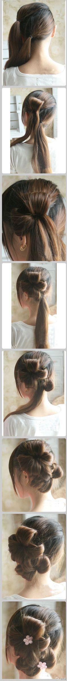 double flowers hair...