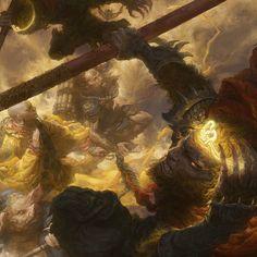Two Demon King vs Monkey King by Fenghua Zhong on ArtStation.