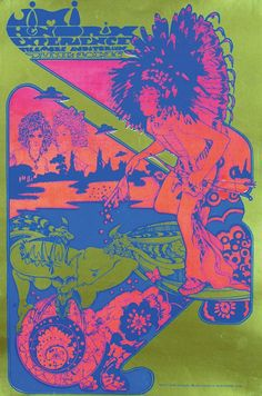 electripipedream: Jimi Hendrix Experience by Hapshash and the Coloured Coat 1967 Hippie Posters, Rock Posters, Band Posters, Concert Posters, Music Posters, Gig Poster, Psychedelic Rock, Psychedelic Posters, Psychedelic Experience