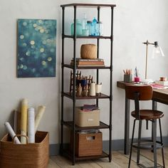 """Pipe Bookcase - Narrow 