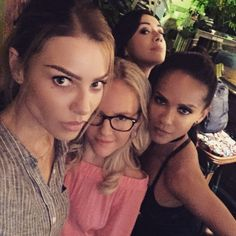 Lauren German, Rachael Harris, Aimee Garcia and Lesley Lauren German, Tricia Helfer, Movies And Tv Shows, Series Movies, Dramas, Lesley Ann Brandt, Tom Ellis Lucifer, Lucifer Mazikeen, Aimee Garcia