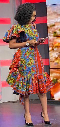 Serwaa Amihere in African prints ready on set. Ankara fashion 2020, African fashion dress, African women's fashion African Dresses For Kids, African Maxi Dresses, Latest African Fashion Dresses, African Print Fashion, African Attire, African Prints, Ankara Fashion, Modern African Fashion, Africa Fashion
