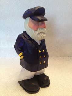 Hand Carved Old Salty Sea Captain by RWKWoodcarving, $30.00. This looks like my BILaw Will.