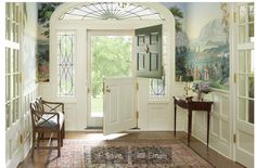 Split door for entry is a very pretty idea too