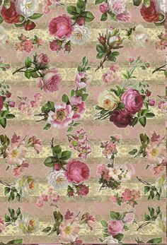 shabby chic dollhouse wallpaper (this site is awesome)