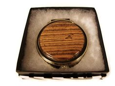 Handmade 10k gold plated compact mirror by alamocrafter on Etsy