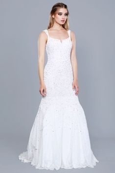 071f5fa7d492 Strapless Sweetheart Belted Embellished Silver Mermaid Style Prom ...