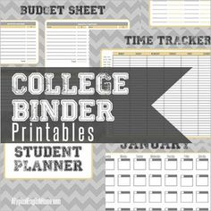 A Typical English Home: Free College Binder Printables  NEED THIS..especially the budget sheet..groceries can ADD UP lol