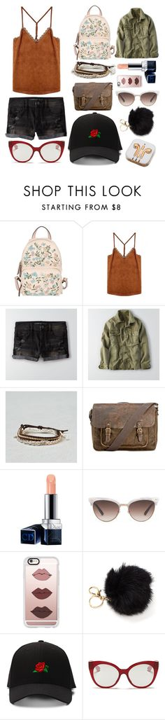 """Leather"" by lmmtwin ❤ liked on Polyvore featuring RED Valentino, American Eagle Outfitters, Patricia Nash, Christian Dior, Gucci, Casetify, Miu Miu and PhunkeeTree"