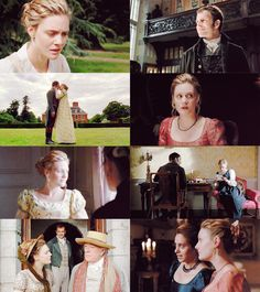 Emma (I love the kiss with Knightley's hands down by his sides!)