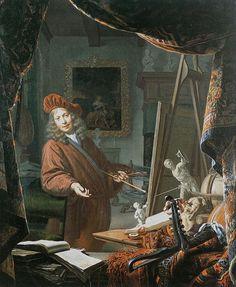 The Painter's Studio - Michiel van Musscher