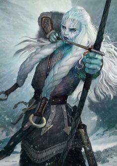 Neridi's best friend Safur- ArtStation - Skaði, Goddess of mountains and hunt, Michele Parisi Foto Fantasy, Fantasy Kunst, Fantasy Rpg, Medieval Fantasy, Fantasy Artwork, Dungeons And Dragons Characters, D D Characters, Fantasy Characters, Fictional Characters