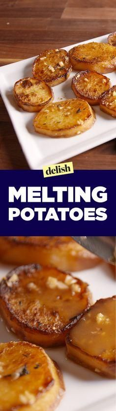 """You NEED to know how to make Melting Potatoes. Get the recipe on <a href=""""http://Delish.com"""" rel=""""nofollow"""" target=""""_blank"""">Delish.com</a>."""