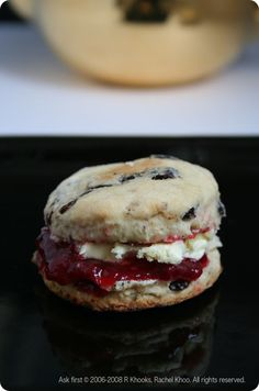 Rachel Khoo currant scones with clotted cream and jam
