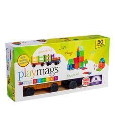 50-Piece PlayMags Magnetic Building Block Set #zulily #zulilyfinds