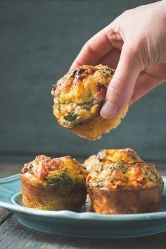 Crustless Mini Quiches (aka, egg muffins)