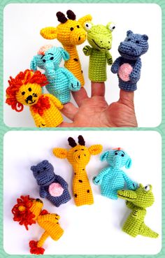 Finger puppets are adorable set of educational toys. Game with this amigurumi toys develops children's imagination. Finger puppets are adorable set of educational toys. Game with this amigurumi toys develops children's imagination. Crochet Baby Toys, Crochet Dolls, Toddler Toys, Kids Toys, Finger Puppet Patterns, Imagination Toys, Waldorf Toys, Montessori Toys, Amigurumi Toys