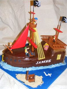 Pirate ship birthday cake recipe