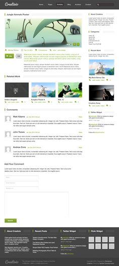 Creativio Portfolio Item Page PSD Freebie